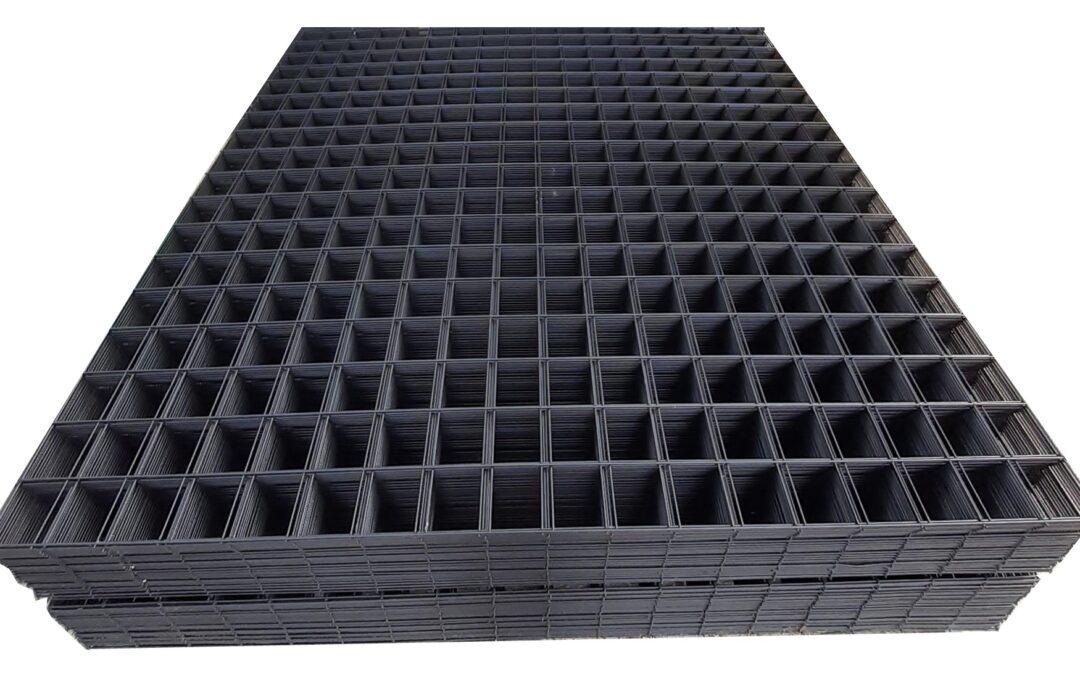Nieuw gaaspaneel zwart geplastificeerd 180×180 cm